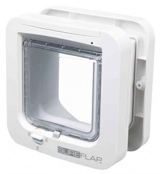 SureFlap 4-Wege Freilauftür mit Mikrochip-Erkennung weiß