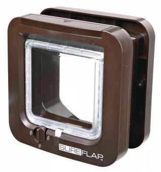SureFlap 4-Wege Freilauftür mit Mikrochip-Erkennung braun
