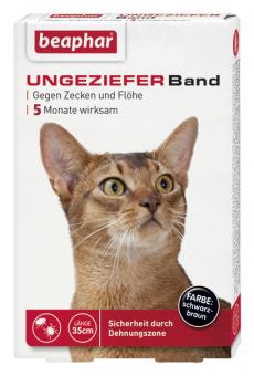 Ungezieferband gegen Zecken und Flöhe bei Katzen