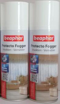 2x Beaphar Protecto Fogger - Insektenvernebler 200ml - Flohbombe