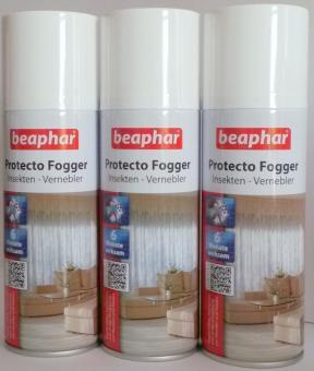 3x Beaphar Protecto Fogger - Insektenvernebler 200ml - Flohbombe