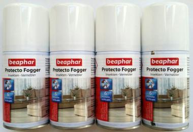 Beaphar Protecto Fogger Mini - Insektenvernebler 4x75ml / Flohbombe