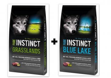 PURE INSTINCT 1x Grasslands 12kg + 1x Blue Lake 12kg