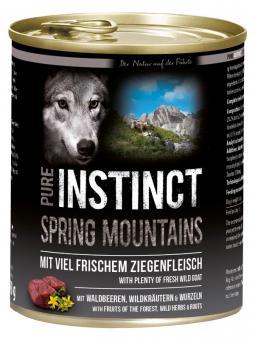 PURE INSTINCT 6x800gr Dosenfutter Ziege - Spring Mountains