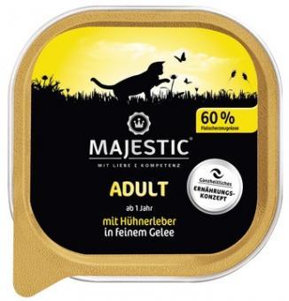 16x MAJESTIC Adult - Hühnerleber - 100g Schale