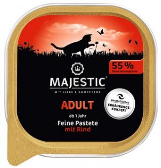 16x MAJESTIC Adult - Rind - 100g Schale