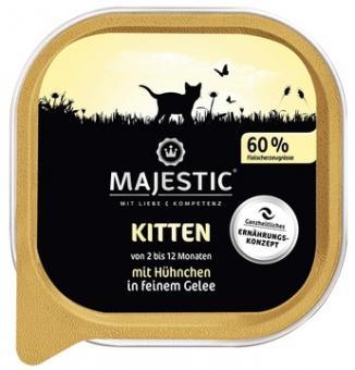 16x MAJESTIC Kitten - Hühnchen - 100g Schale