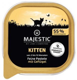 16x MAJESTIC Kitten - Geflügel - 100g Schale