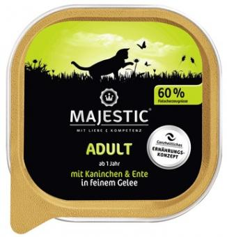 16x MAJESTIC Adult - Kanninchen & Ente - 100g Schale