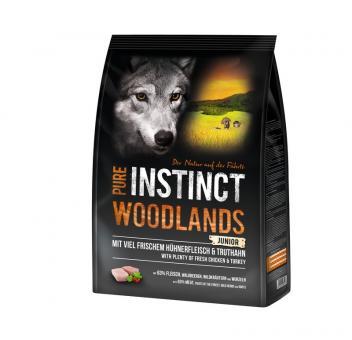 PURE INSTINCT 4kg Woodlands Junior für Welpen