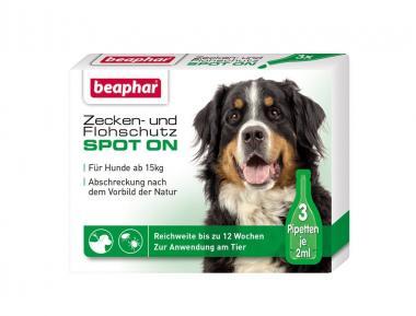 Beaphar Zecken- und Flohschutz Spot-on 3x2ml