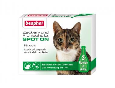 Beaphar Zecken- und Flohschutz Spot-on 3x0,8ml